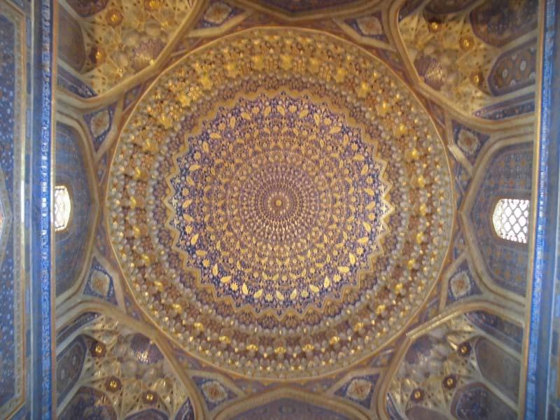 Beeindruckende-Registan-Kuppel-von-innen