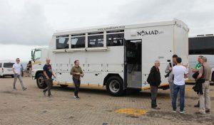 Transafrika-Tour-Motorbiker am Kap